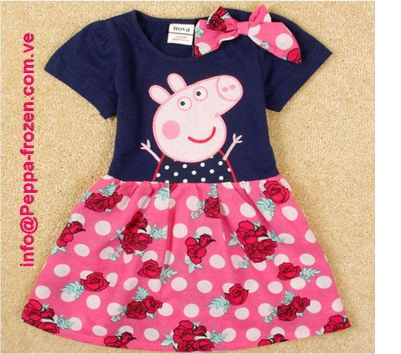 Peppa Pig Vestido Azul/ Rosado Talla18-24 Meses - Bs. 31.750,00 en ...