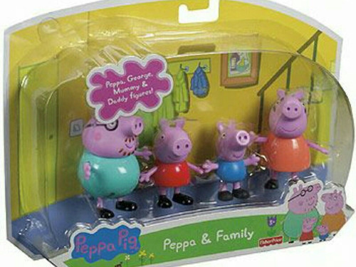 peppa pig y su familia de fisher price.