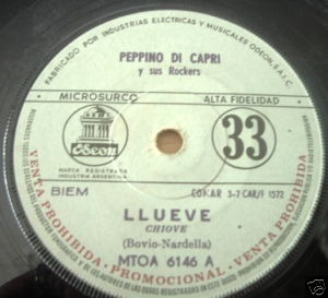 peppino di capri llueve / yo no simple argentino promo