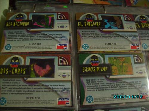 pepsi cards marvel - dc sueltas metalicas prismas hologramas