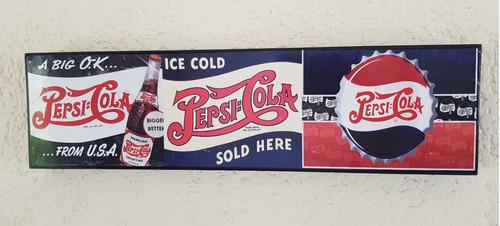 pepsi cola vintage cantina cuadro cartel bar