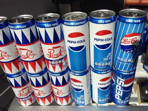pepsi latas retro año 1950 y 1971