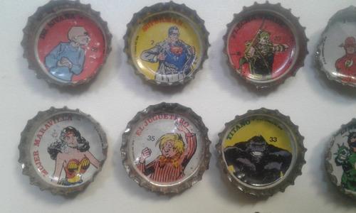 pepsi superheroes dc comics 1978 lote de 10 chapitas