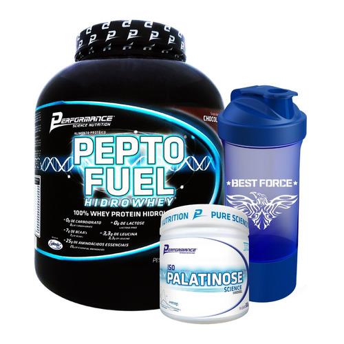 pepto fuel hidrolisado + iso palatinose + brinde performance