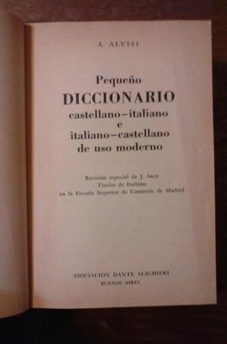 peq diccionario castellano italiano asoc dante alighieri