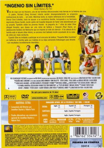 pequeña miss sunshine little miss sunshine pelicula dvd