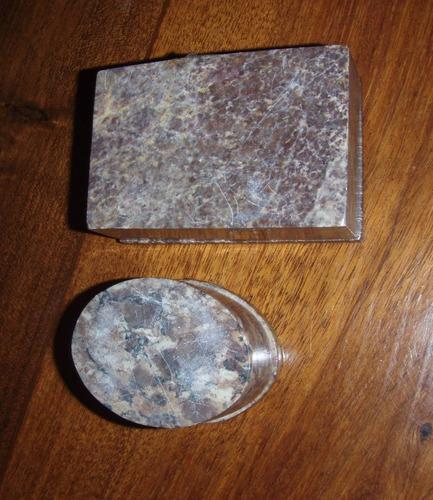 pequeñas cajas mármol c/incrustaciones en nácar