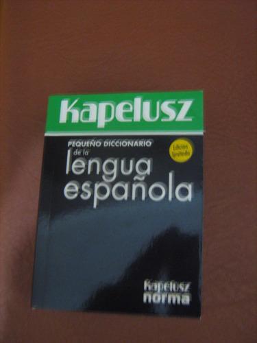 pequeño diccionario de la lengua española kapelusz