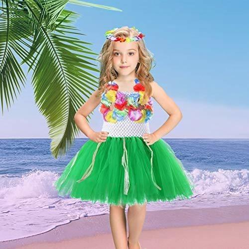 pequeño disfraz hawaiano divertido para niñas vestido de tut