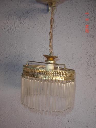pequeno lustre luminária teto metal amarelo 57 tubos vidro