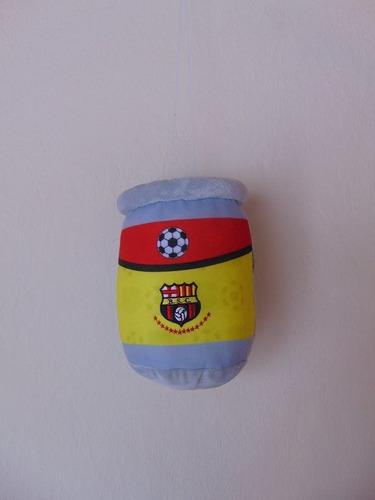 pequeño peluche lata cervecero del barcelona 25cm