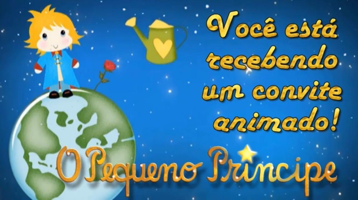 Pequeno Príncipe Convite Virtual Animado