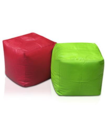peras pouf cilindro o cubo, relleno perlitas