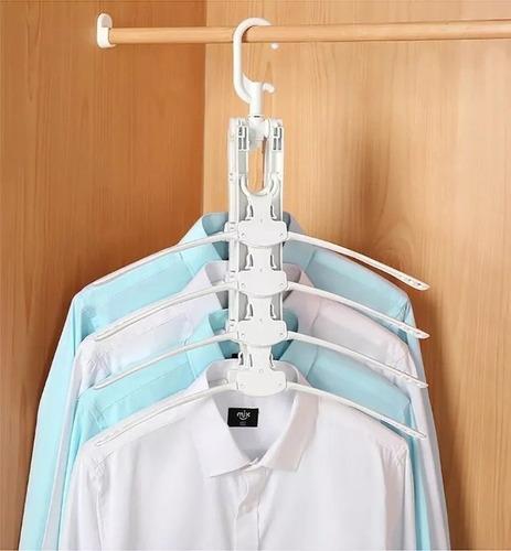 percha 8 en 1 organizador ropa placar 360g tendedero ®