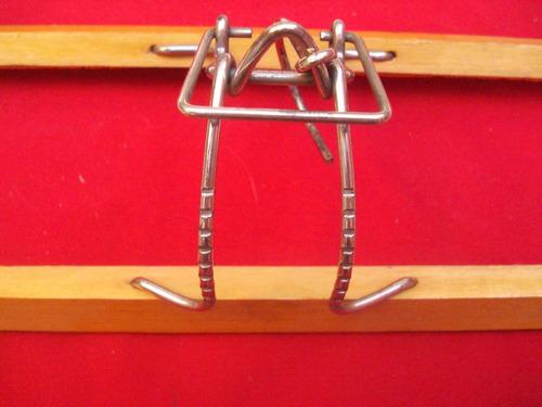 percha clip madera