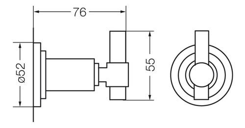 percha de baño fv temple cromo accesorio garantía 166/87