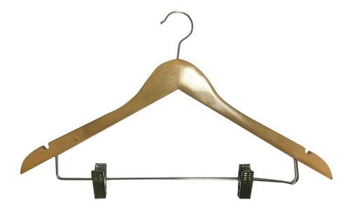 percha de madera triangulo c/ pinzas calidad a+. 50 unidades