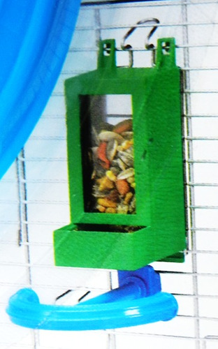 percha de plástico para aves pequeñas forma de t.