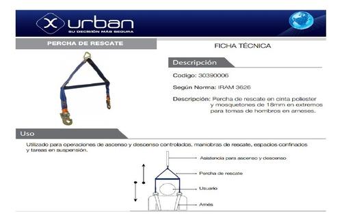 percha de rescate para espacios confinados x-urban
