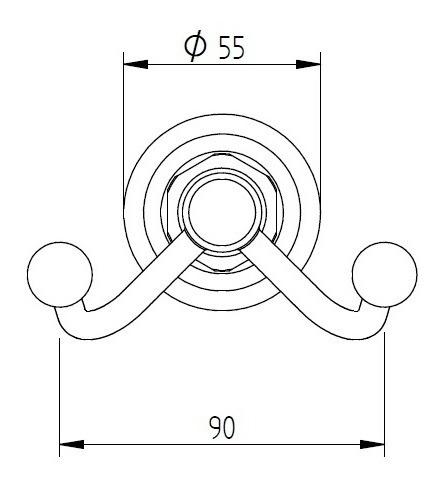percha doble robinet berna cromo 12 cuotas