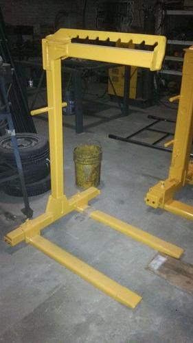 percha elevación horquilla pallet 1 - 2 - 3 - 5 ton. (4 che)
