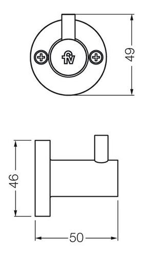 percha fv california 166/17 accesorio baño metálica cromo