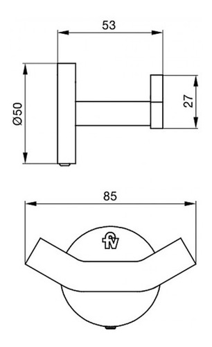percha fv nebraska triades cromada metálica 166/c5