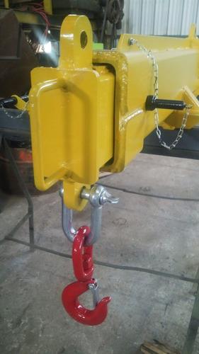 percha izaje regulable cargas largas (autoelevador y/o grúa)
