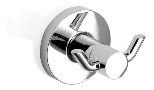 percha piazza domani doble baño perchero accesorio cromada 5 años de garantía