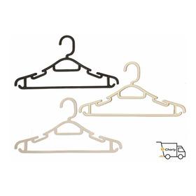 Percha Plástico ; Pack 100 Unidades Color: Blancas O Negras