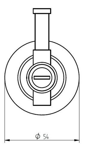 percha simple robinet bronx cromo 12 cuotas