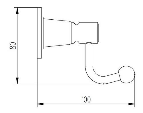 percha simple robinet studio cromo 12 cuotas