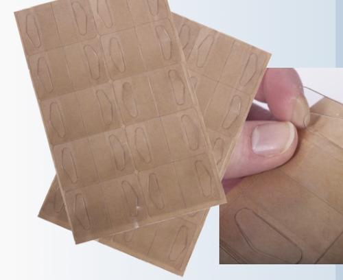 perchas adhesivas, colas de pato, precio x planilla de 20 pz