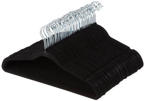 perchas de terciopelo, color negro