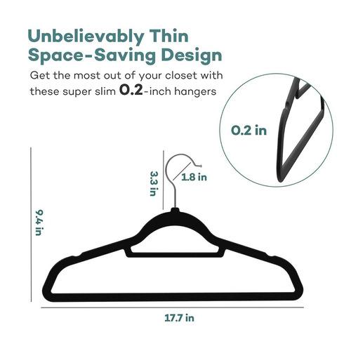 perchas de terciopelo, sable ultra delgada traje de ahorro d