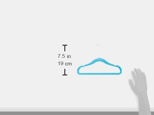perchas ganchos terciopelo azul para bebe niños 30pz  28 cm envio gratis