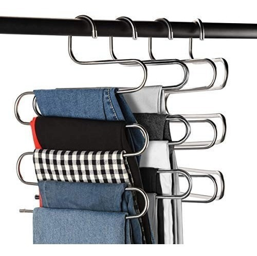perchas multiusos para pantalones, s-type 5 capas, perchas d