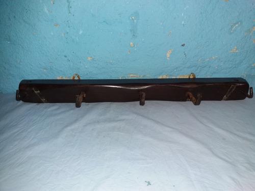 perchero artesanal 5 perchas lgo 70cm tirante madera