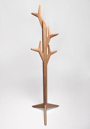 perchero che' ,encino, madera solida, diseño