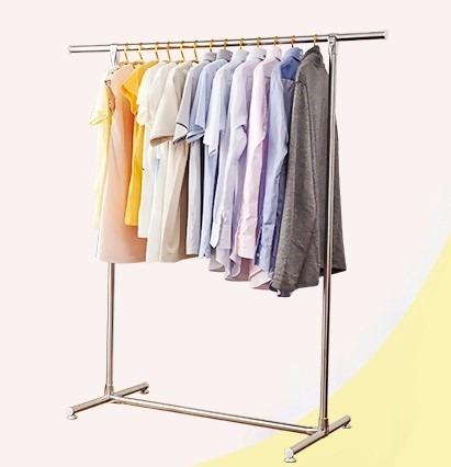 perchero colgador de ropa exhibidor met lico 136x125cm