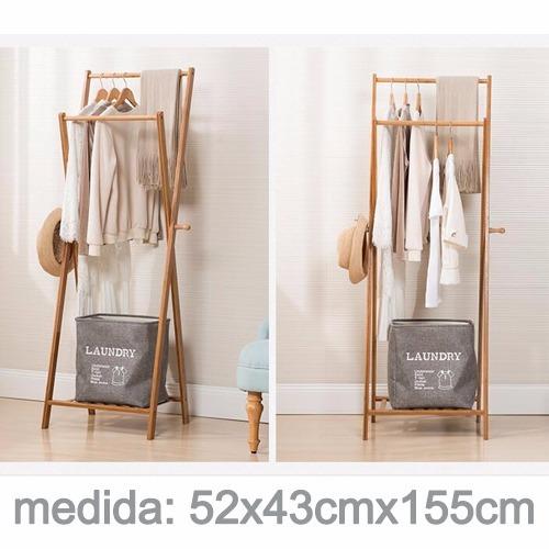 últimas tendencias de 2019 gran descuento seleccione para auténtico Perchero Colgador Madera Bambu Closet Exhibicion 52x43x155cm