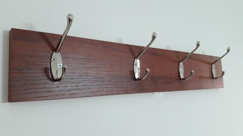 perchero con 4 ganchos en acero inoxidable,repisa,soporte