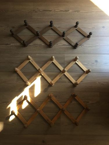 Perchero de acordeon rustico de madera en - Percheros de madera rusticos ...