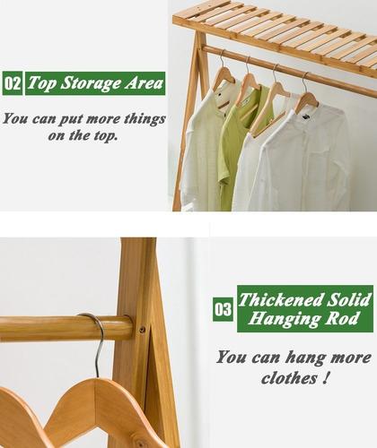 perchero de bambú para colgar ropa, de copre, resistent
