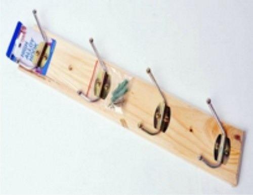 Perchero de madera 4 ganchos para la pared 30 cm 150 for Ganchos para percheros precio