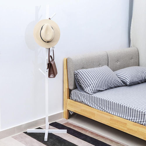 perchero de madera estilo árbol, percha de pie, para dormito