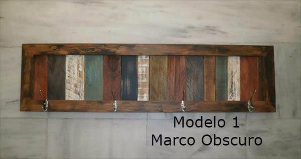 Perchero De Pared Con Maderas Rusticas Vintage Multicolor - $ 950.00 ...
