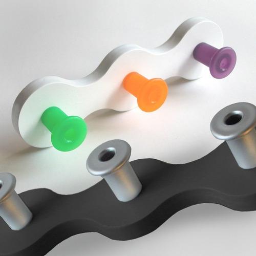 perchero de pared deco diseño infantil onda mini lavacatada