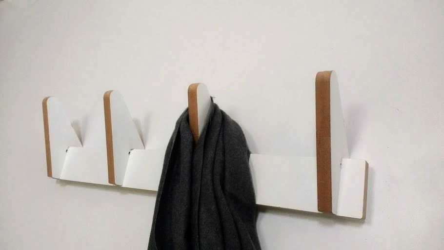 Perchero De Pared Nordico Moderno De Diseno Blanco 42000 En - Percheros-pared-diseo