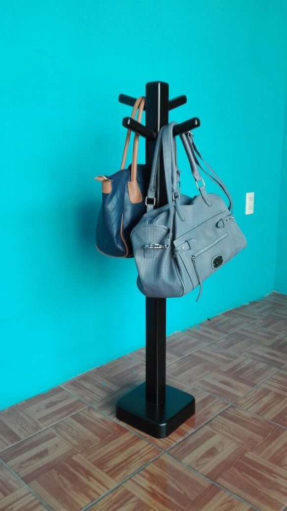 Perchero de pedestal pie restaurante u oficina minimalista - Percheros para bolsos ...